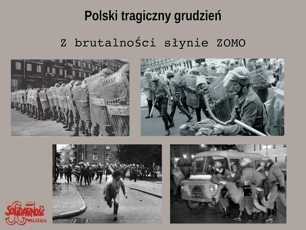 brutalność ZOMO, Zmotoryzowane Odwody Milicji Obywatelskiej