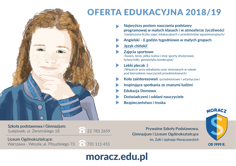 oferta edukacyjna szkoła moraczewskich