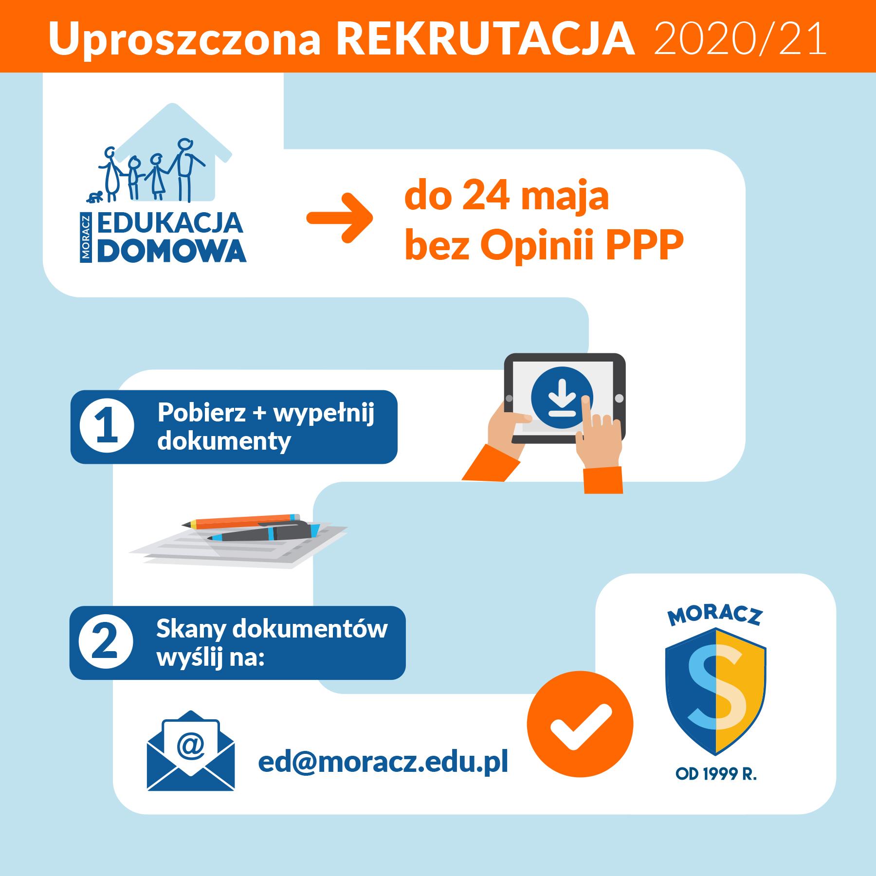 Uproszczona REKRUTACJA 2020/21 do 24 maja!
